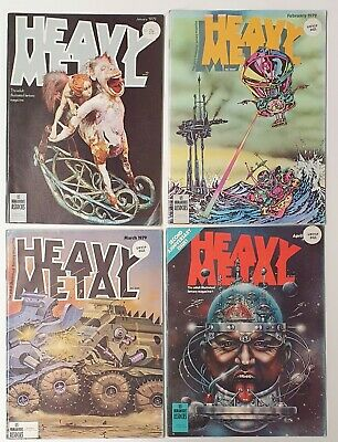Heavy Metal - Whole Year 1979 - Adult Illustrated Fantasy Magazine - 12 Editions • 120£