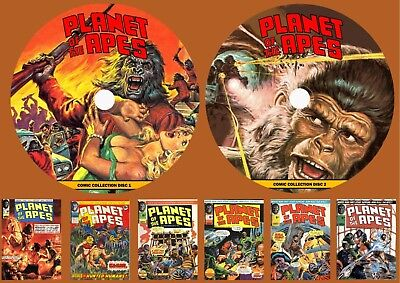 Planet Of The Apes Weekly Comic Collection & More On Two PC DVD Rom's (CBR'S) • 6.99£