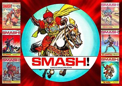 Smash! Comics & Annuals Collection 1 On PC DVD Rom (CBR FORMAT) • 4.99£