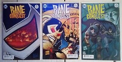 DC Comics: BANE CONQUEST #1-3 (2017) Comic Lot • 5£