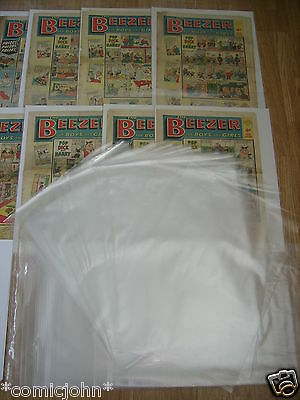 Storage Bags For Newspapers, Beezer Comics Etc - Pack Of 100 (17 1/2  X 14 ) • 9.99£