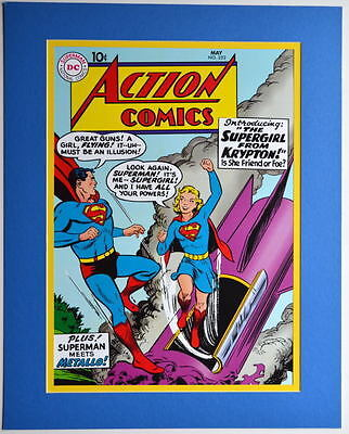 ACTION COMICS #252 COVER PRINT Professionally Matted DC 1st App Supergirl • 26.40£