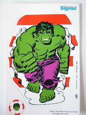 Vintage Incredible Hulk Sticker.  Signal Toothpaste. 1982. Rare • 3£