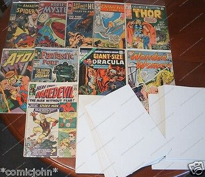 Silver Age Size U.s. Comic Backing Boards - Pack Of 100 (size C) • 6.99£