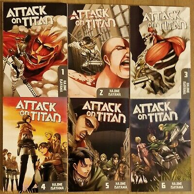 ATTACK ON TITAN 1-13 Manga Collection (LIKE NEW) • 26£