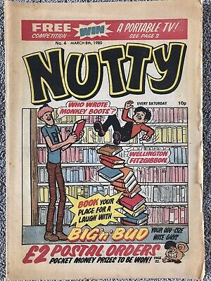 NUTTY Comic # 4 - March 8th 1980. DC Thomson Bananaman • 1.99£