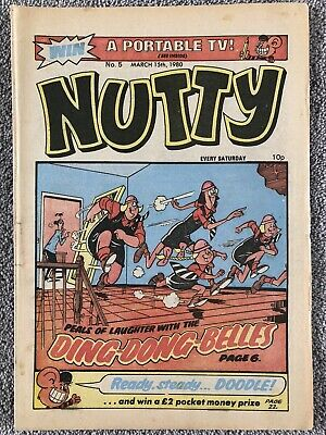 NUTTY Comic # 5 - March 15th 1980. DC Thomson Bananaman • 1.99£