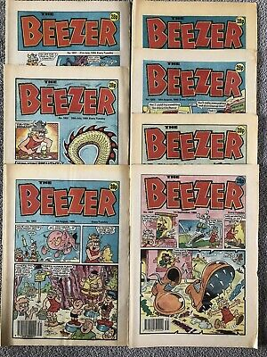 RUN Of 7 X BEEZER Comic # 1801 - 1807. July To September 1990. DC Thomson • 4.99£