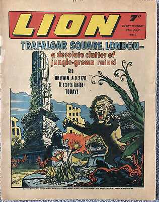 LION Comic - 25th July 1970 - Fleetway Weekly UK - Dan Dare Robot Archie • 2.99£