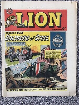 LION Comic - 11th July 1964. British Weekly - Paddy Payne Robot Archie • 2.99£