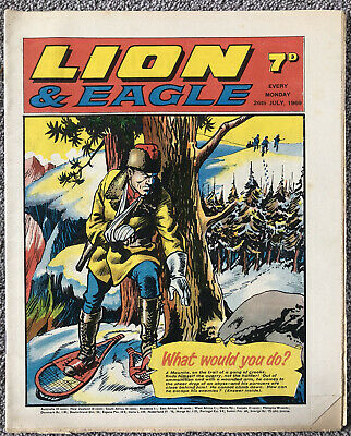 LION & EAGLE Comic - 26th July 1969. British Weekly - Dan Dare Robot Archie • 2.99£