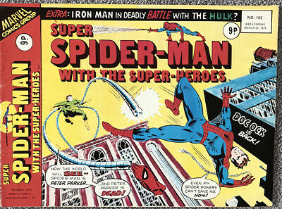 SUPER SPIDER-MAN Comic # 162 - March 20th 1976 British Marvel. Guardians Galaxy • 2.99£