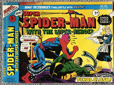 SUPER SPIDER-MAN Comic # 164 - April 3rd 1976. British Marvel. MORBIUS POSTER • 2.99£