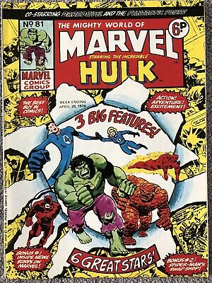 MIGHTY WORLD OF MARVEL Comic # 81 - April 20th 1974. British Marvel Daredevil • 2.99£