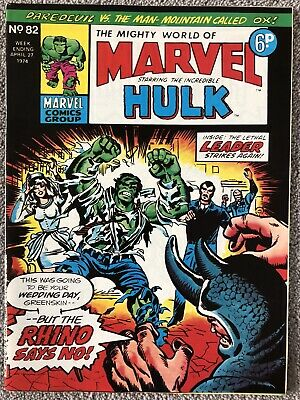 MIGHTY WORLD OF MARVEL Comic # 82 - April 27th 1974. British Marvel Daredevil • 2.99£