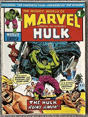MIGHTY WORLD OF MARVEL Comic # 83 - May 4th 1974. British Marvel Fantastic Four • 2.99£