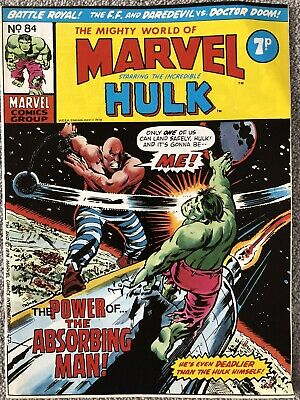 MIGHTY WORLD OF MARVEL Comic # 84 - May 11th 1974. British Marvel Fantastic Four • 2.99£