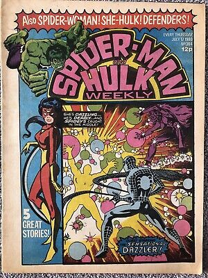 SPIDER-MAN AND HULK WEEKLY Comic # 384 - July 17th 1980. British Marvel • 2.99£