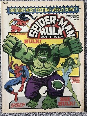 SPIDER-MAN AND HULK WEEKLY Comic # 385 - July 24th 1980. British Marvel • 2.99£