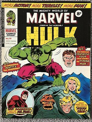 MIGHTY WORLD OF MARVEL Comic # 181 - March 20th 1976. British Weekly Magazine • 2.99£