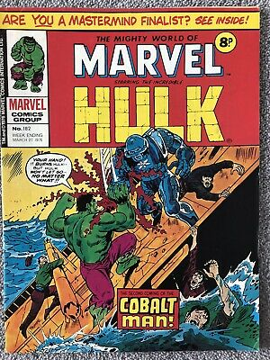 MIGHTY WORLD OF MARVEL Comic # 182 - March 27th 1976. British Weekly Magazine • 2.99£