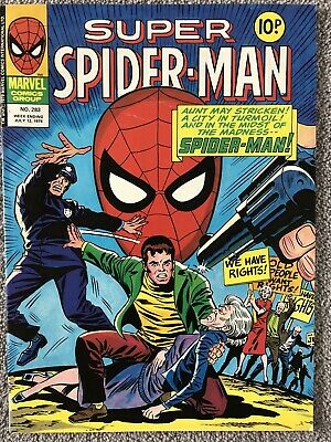 SUPER SPIDER-MAN Comic # 283 - July 12th 1978. UK Marvel - Captain America • 2.99£