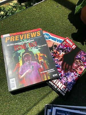 Previews The Comic Shop's Catalog Issue #373 October 2019 & Marvel Dc Magazine • 1.99£