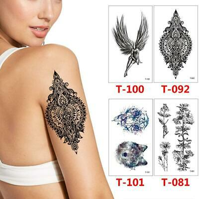 Black Temporary Tattoo Body Art Sticker Stickers Symbol Cool Waterproof  • 2.33£