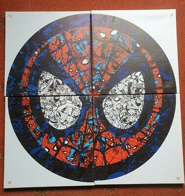 Draw The Marvel Way Spider-man Canvas Picture Avengers Spiderman Collectable  • 40£