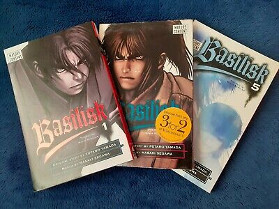 Manga Basilisk 1 2 5 2003 Book Delrey Comic Graphic  • 3£