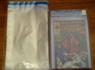 PACK OF 50 X RESEALABLE CGC/COMIC PROTECTION BAGS. POLYTHENE - SIZE J • 3.99£