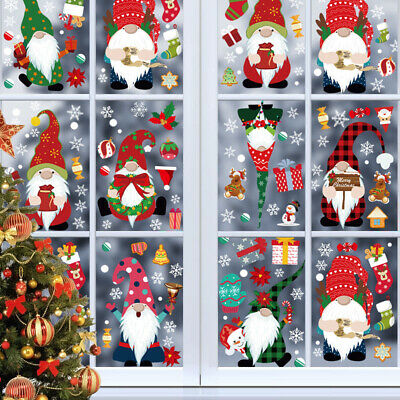 8 Sheet Christmas Snowflake Window Stickers For Glass Xmas Holiday Snowflake • 6.49£