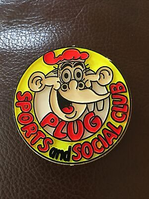 Vintage Plug Comic Plug Sports And Social Club Badge, Excellent Cond For Age • 2.99£