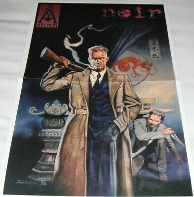 Archon's 'noir' Rare 1996 Role Playing Game Promo Poster • 0.99£