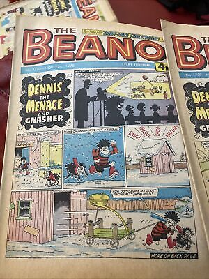 4 X 1975 The Beano Comic  Vintage Collection UK Comics  Bundle DENNIS THE MENACE • 5£