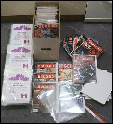 100 X SIZE H.  RESEALABLE COMIC BAGS  FOR NEWER SIZE 2000AD • 6.25£