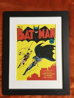 Framed Batman Print.  With Mount & Wooden Frame • 0.99£