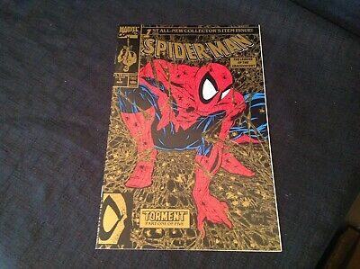 SPIDER-MAN # 1 GOLD COVER 2nd PRINTING NM • 29.99£