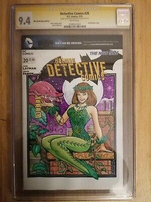 Detective Comics #20 CGC SS 9.4 Signed & Sketched By Steven Butler • 150£