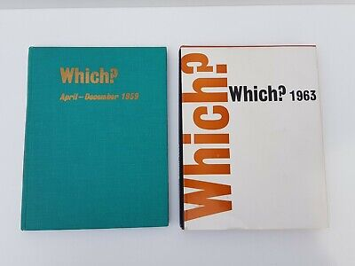 2 Vintage Which? Consumers' Association Ltd 1959 1963 Books, Printed In England • 16.99£