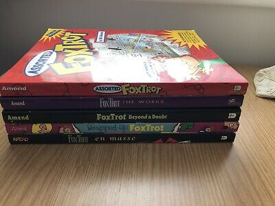 5 X Foxtrot Comic Book Collections By Bill Amend Wrapped Up, En Masse, The Works • 44.99£