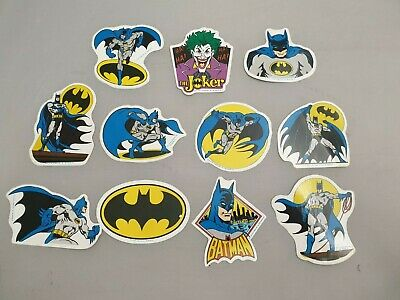 11x Vintage Batman & The Joker Sticker Von 1989 / DC Comics / MR Badge Aufkleber • 27.26£