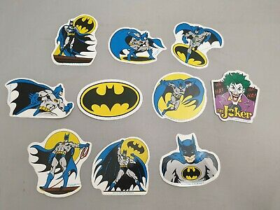 10x Vintage Batman & The Joker Sticker Von 1989 / DC Comics / MR Badge Aufkleber • 25.96£