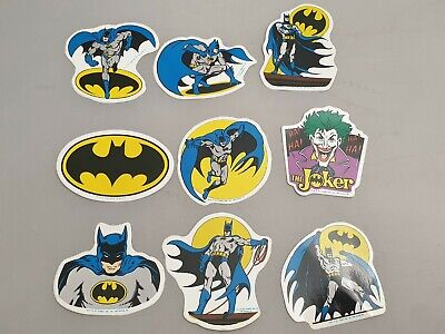 9x Vintage Batman & The Joker Sticker Von 1989 / DC Comics / MR Badge Aufkleber • 26.35£