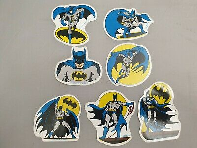 7x Vintage Batman Sticker Von 1989 / DC Comics Inc. '89 / MR Badge Aufkleber • 19.06£