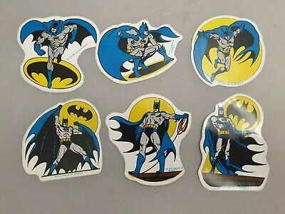 6x Vintage Batman Sticker Von 1989 / DC Comics Inc. '89 / MR Badge Aufkleber • 16.32£
