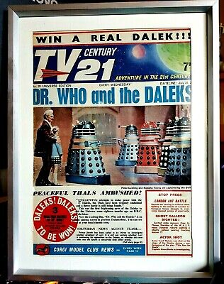 TV Century 21 Comic Issue #28 Framed Cover (original) Dr. Who And The Daleks  • 32.21£