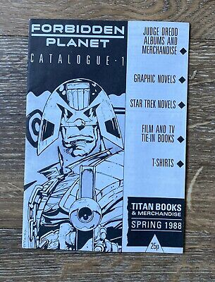 Forbidden Planet Mail Order Catalogue From 1988 Featuring Judge Dredd & 2000AD • 0.99£