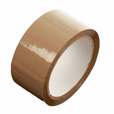 Packing Tape Brown Packaging Parcel Postal Storage Strong 1 Roll 48mm X 66m • 6£