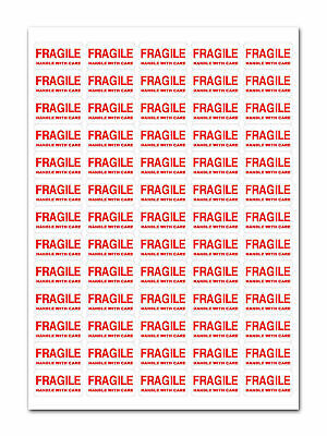 Fragile Handle With Care Stickers X65 Packing Packaging Parcel Postage Storage • 3£